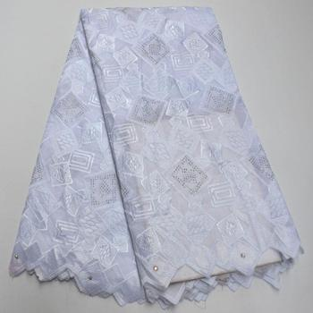 Nigeria Cotton Lace Fabric High Quality African Lace Fabric With Stones For Wedding Swiss Voile Lace In Switzerland PSA23-1
