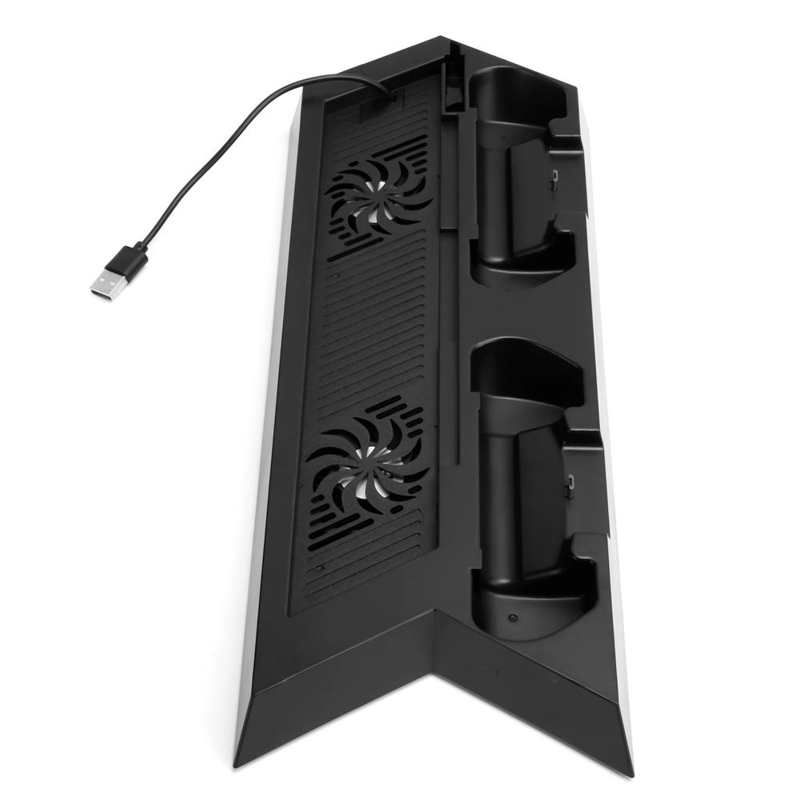 Для Sony PS4 Вертикальный стенд контроллер зарядная док-станция охлаждающий вентилятор зарядное устройство