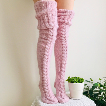 Knitted Fashion Thigh Highs