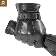 Youpin guantes Qimian AllTouch para hombre y mujer, de dedo completo, impermeables, cuero suave español, cálido, Drivin de invierno