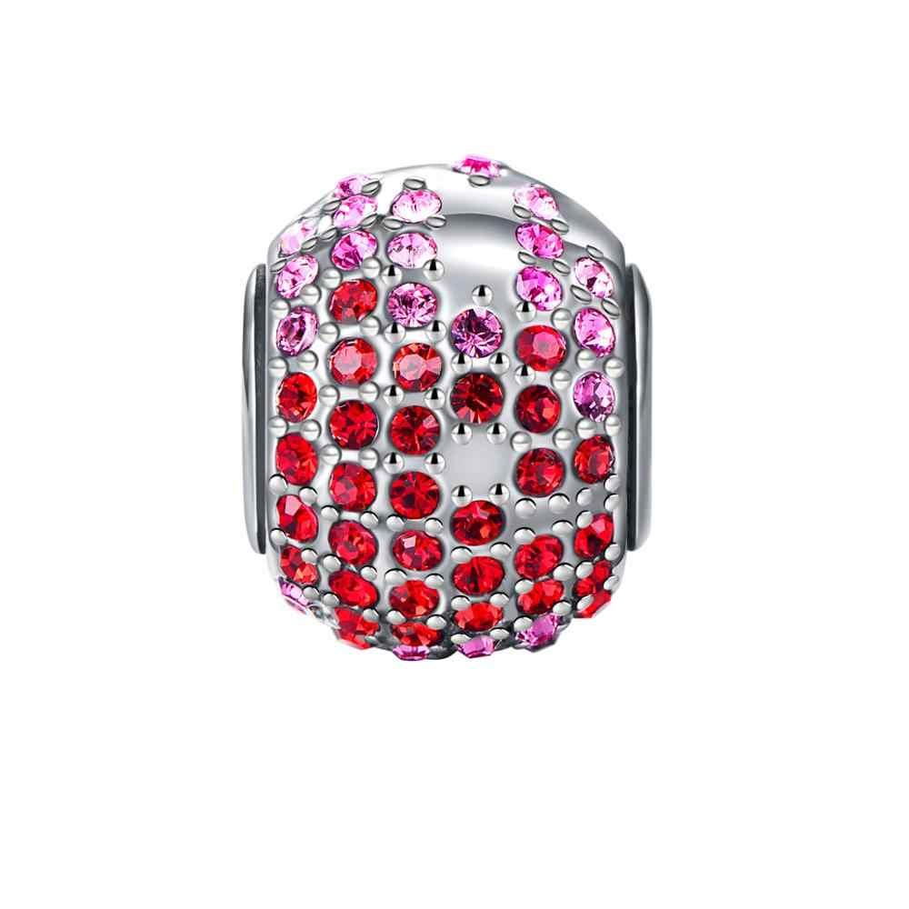 Классические ювелирные бусы из серебра 925 пробы, очаровательные браслеты, оригинальные подвески, брендовые модные аксессуары
