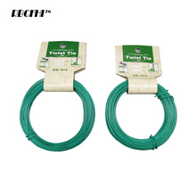 RBCFHI 1PC 12/15m Plant Twist Tie Garden Wire Green Cable Tie Coated Wire Garden, Home Office Use