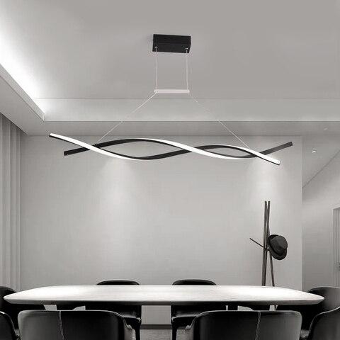 moderno pingente lustre para sala de jantar escritorio cozinha onda aluminio avize lustre moderno