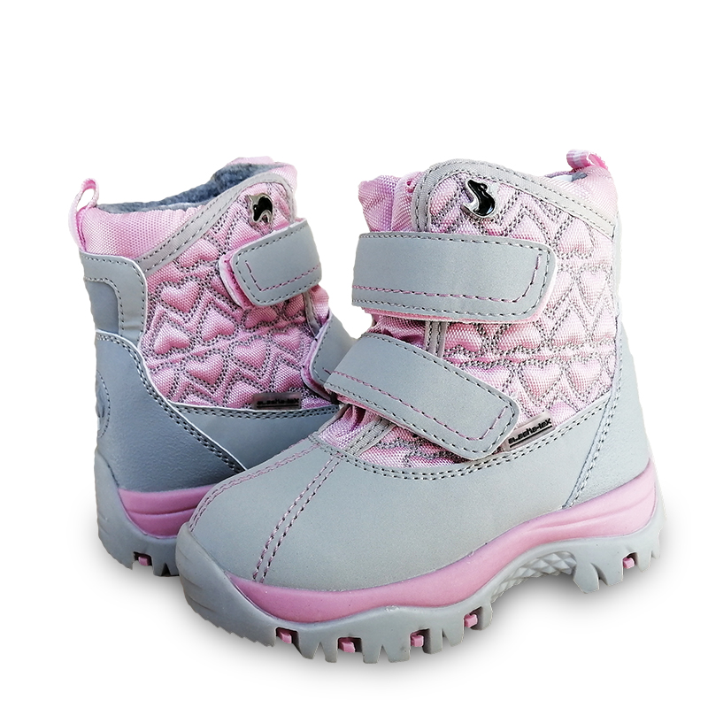 Winter Warm  1pair Waterproof Snow Boots Leather Ski Children Wool Boot,-40 Or -30 Degrees Kid Girl/Boy Boot