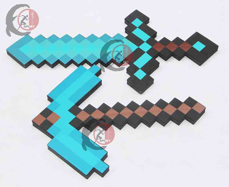 2019 Newest design Mini Size 45cm MineCrafted Blue Diamond Sword Soft EVA foam toy sword