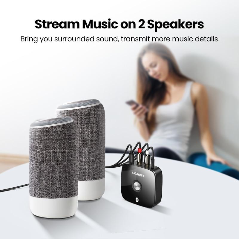 Ugreen Bluetooth RCA מתאם בלוטות' איכותי ונוח להשמעת מוזיקה ללא צורך בכבלים 4