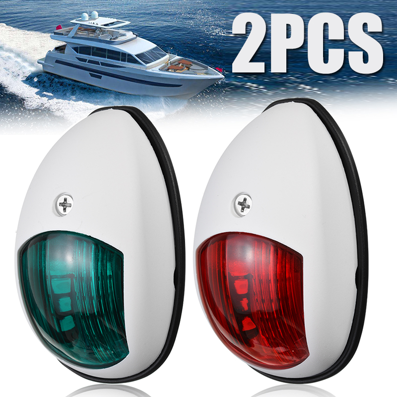 1 Pair 10V-30V Universal LED Navigation Signal Lamp Green Red Side Signal Light For Marine Boat Yacht Truck