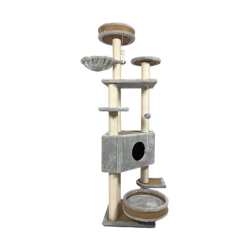 <font><b>Cat</b></font> Climbing Frame, Sisal <font><b>Cat</b></font> Grabbing Column, Wooden <font><b>Tree</b></font> House, <font><b>Cat</b></font> Toy, <font><b>Large</b></font> <font><b>Cat</b></font> Stand, Jumping Platform, Four Seasons <font><b>Cat</b></font> H image