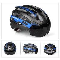 Fishtail branco 2020 bicicleta ciclismo capacete adsorção magnética esportes capacete  óculos de proteção integrado capacete da bicicleta com segurança boné