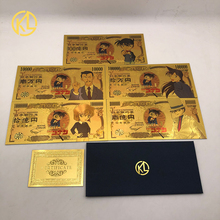 Plastic-Cards Conan Cartoon Detective Japan Foiled Childhood Gold Anime Select for Memory