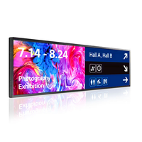 38'' 49'' inch Fhd ultra-wide stretched advertising screen monitor lcd shelf bar display