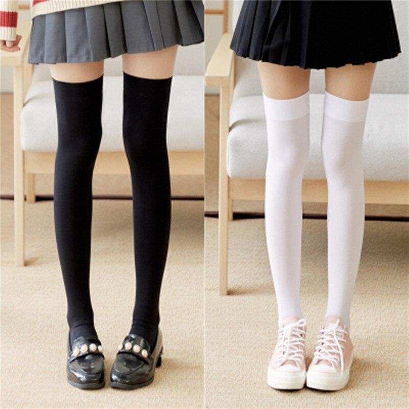 1 пара, женские пикантные теплые чулки выше колена, бархатные чулки, Стрейчевые колготки, соблазнительные носки, длинные носки выше колена
