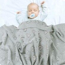 Детские вязаные пеленки для новорожденных, одеяла для коляски, мягкие постельные принадлежности для младенцев, постельные принадлежности, одеяло для кровати, диван, корзина для ребенка