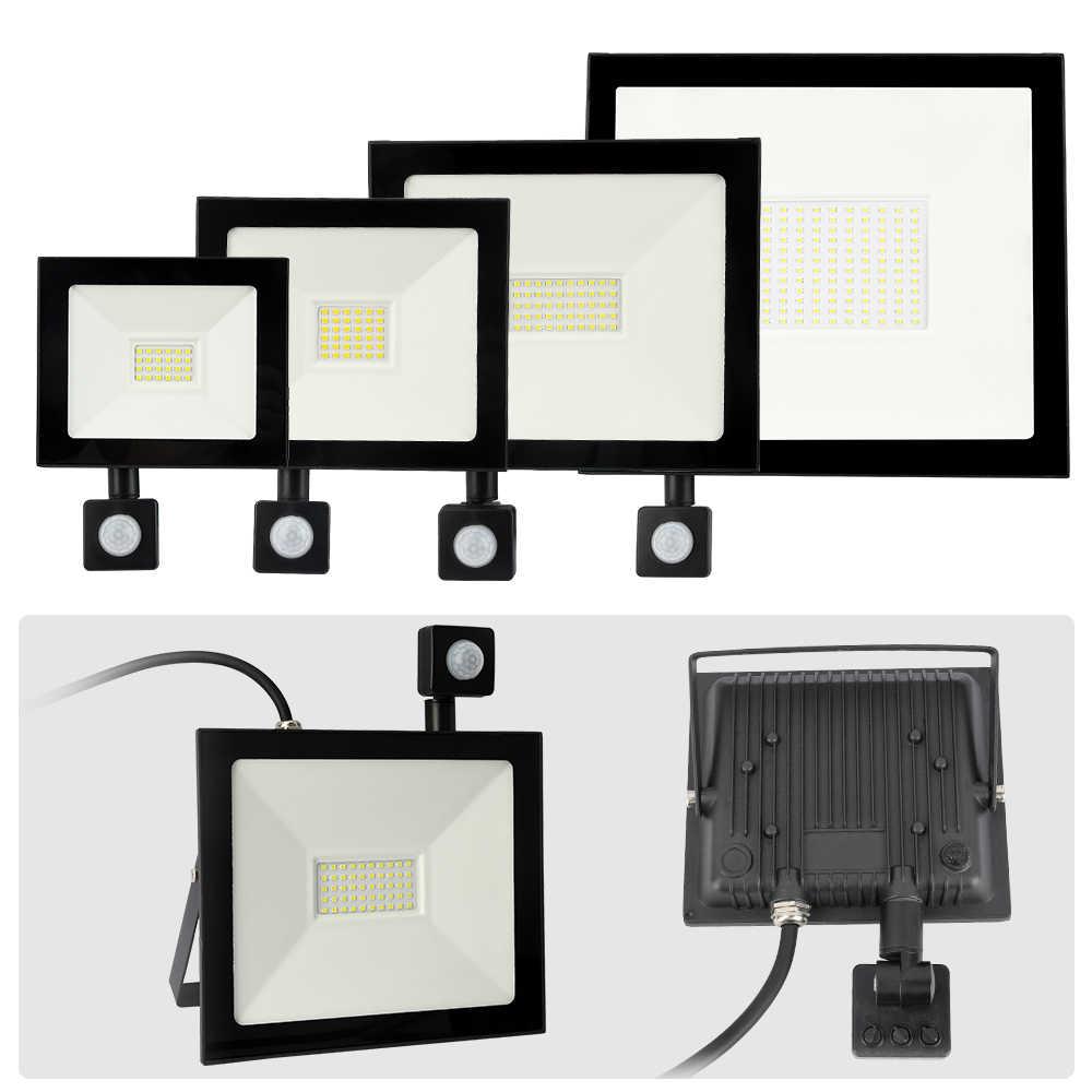 10W 20W 30W 50W 100W LED Flutlicht Motion Sensor Wasserdichte AC220V LED PIR Flutlicht reflektor Projektor Outdoor Scheinwerfer