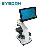цена на 1600X Biological Monocular Microscope with 5 Inch Electronic Eyepiece Display Screen and 5 Prefabricated Slide