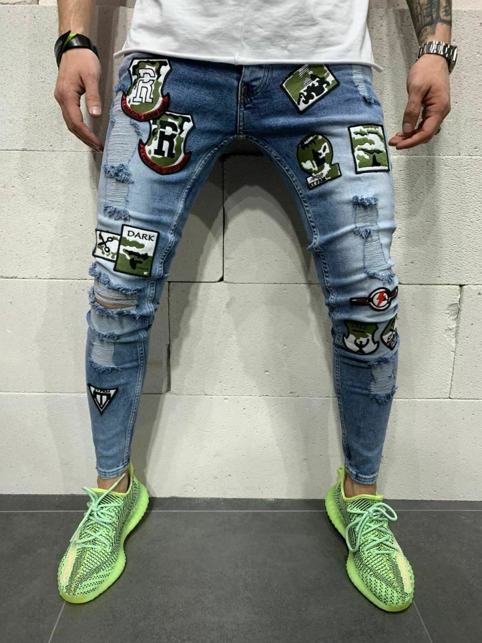 2020 2020 Men Badge Hip Hop Skinny Jeans Fashion Designer Stretch Streetwear Denim Trousers From Liumeiwan 18 23 Dhgate Com
