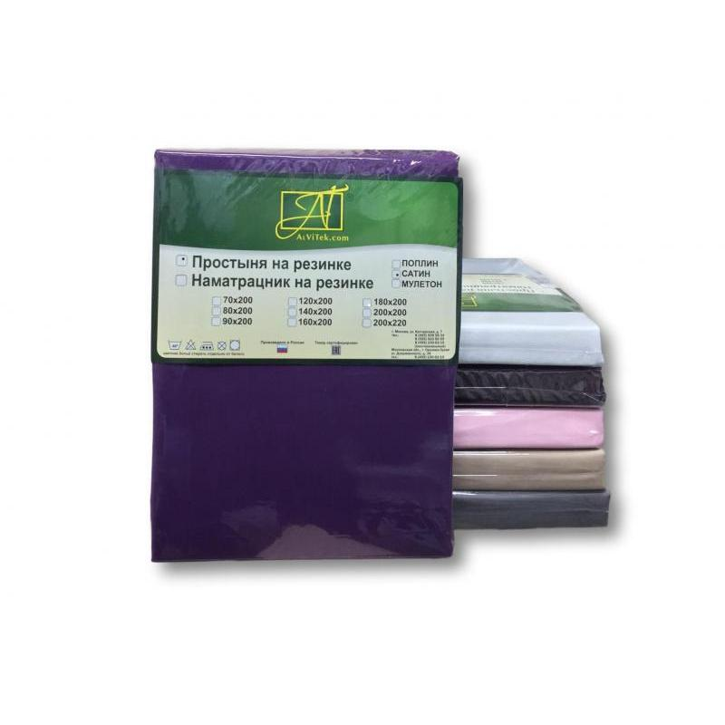 Bed Sheet with elastic band АльВиТек, 160*200*25 cm, fuchsia