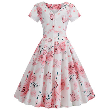 2020 Floral Printed Womans Fashion Dress 2