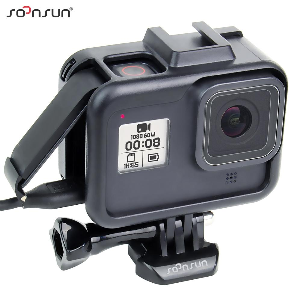 SOONSUN Standard Protective Border Frame Housing Case Cover Shell Mount for GoPro Hero 8 for HERO8 Black Go Pro Accessories(China)