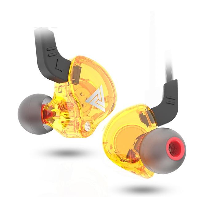 QKZ AK6 3.5mm Wired Headphones Copper Driver Stereo HiFi Earphone Bass Earbuds Music Running Sport Headsets Games Earphones 4