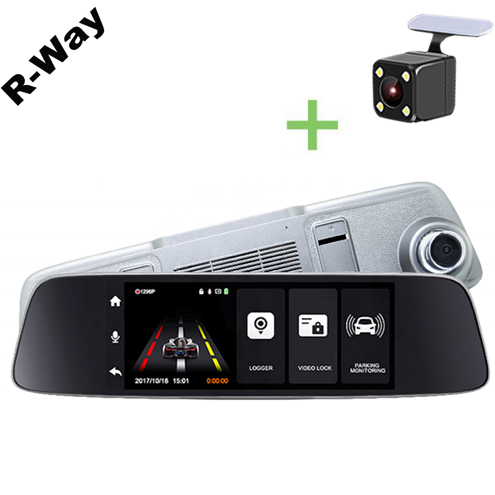 R-Way <font><b>2019</b></font> 1080P Smart Recorder 7.0 inch 2.5D IPS Touch Screen <font><b>Dash</b></font> <font><b>Cam</b></font> <font><b>Mirror</b></font> Camera with Bluetooth Night Vision HD <font><b>Dash</b></font> <font><b>Cam</b></font> image