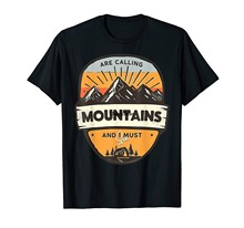 Camiseta as montanhas estão chamando e eu devo ir acampar (1)