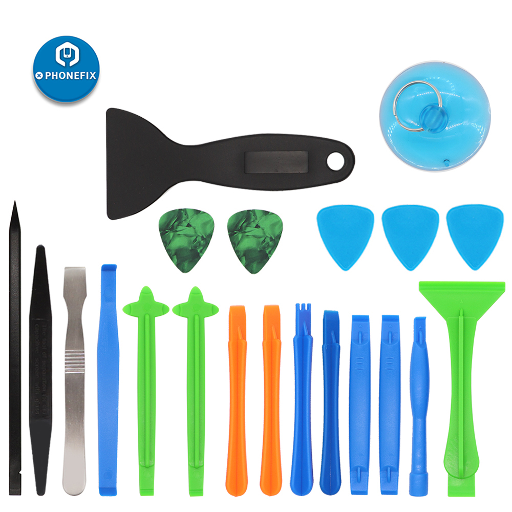 21pcs Prying Tool Opening Repair Tools Kit With Sucker Spudger Opener For IPhone X 8 7 6 Battery Replacement Tool Kit