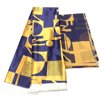 2020 afryki koronki tkaniny nigerii satynowe tkaniny woskowe wysokiej jakości 6 metrów za dużo wysokiej jakości naśladować Slik tanie i dobre opinie Blesing wyszywana CN (pochodzenie) oddychająca Z satynowej tkaniny wax fabric warp 46 -47 or 45 -46 Organiczna tkanina