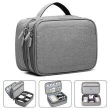 Asa accesorios electrónicos de viaje multiusos/organizador bolsa de almacenamiento funda para banco de energía, disco duro, teléfono inteligente, cargador,