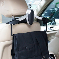 Car Hanger Abs Foldable Luxury Accessories Multi Function Seat Back Hook Clothes Jacket Storage Hook Black