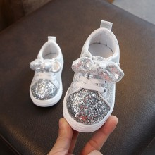 Children Baby girls Boys Bling Sequins Bow-knot Crystal Run Sport Snea