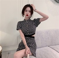Hot Sale Women Short Sleeve Plaid Print Wide Leg Rompers 2019 Sexy Hollow Out Grid Jumpsuit Female Casual Overalls