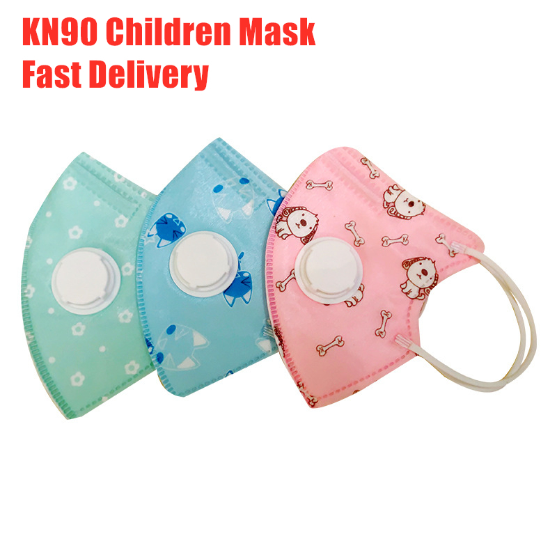10Pcs Children Breath Valve Mask Kids Cartoon PM2.5 Anti Haze Face Mask Breathable Girl Boy Print Mouth Mask 2