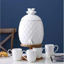 Керамический чайный набор 5 л деревянная бочка кофейник в форме