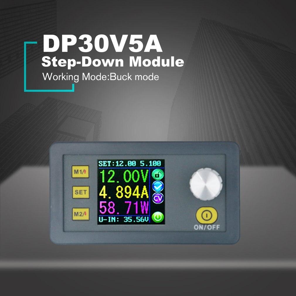 Aletler'ten Elektrikli Alet Aksesuarları'de DP30V5A sabit gerilim akım adım aşağı programlanabilir güç kaynağı modülü Buck gerilim dönüştürücü regülatörü renkli LCD title=