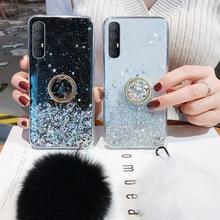 Fur Ball Case for Samsung A32 A52 A72 A12 Glitter Silicon Case A50 A30 A31 A51 A71 A20 S8 S9 S20 Plus S21 FE Phone Holder Cover
