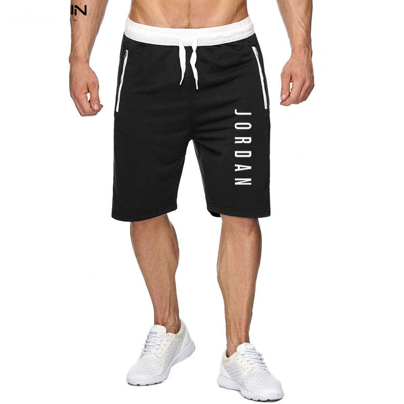 2020 men's new solid color fashion summer men's cotton sports casual   shorts   running training pants men's casual   shorts