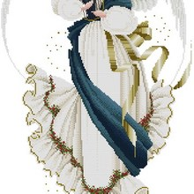 Higher Cotton Top Quality beautiful lovely counted cross stitch kit angel of hope blue and white fairy angel de la Esperanza
