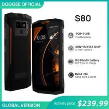 DOOGEE S80 SmartPhone con carga inalámbrica, NFC, 10080mAh, 12V, 2a, 5,99 FHD, Helio P23, ocho núcleos, 6GB, 64GB, 16,0 M, IP68/IP69K, walkie-talkie