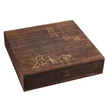 Elegante paquete de regalo caja de té de madera portátil organizador de...