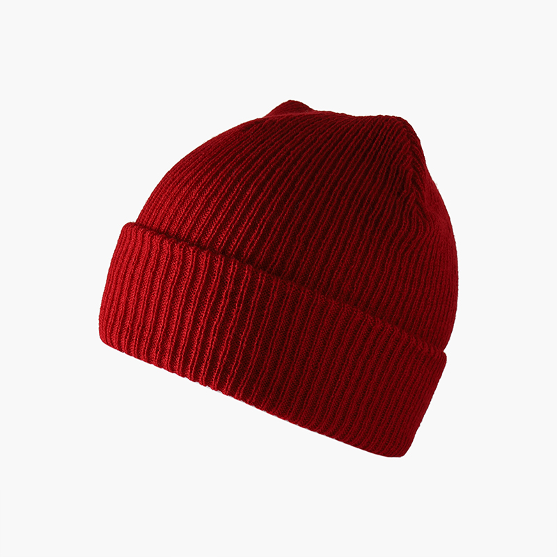 Unisex Winter Women Beanie Ribbed Knitted Cap Men Solid Color  Baggy Retro Ski Outdoor Soft Warm Hat Slouchy Cap Female Beanie