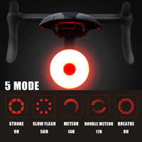 Mini LED Bicycle Tail Light Usb Chargeable Bike Rear Lights IPX5 Waterproof Safety Warning Cycling Light Helmet Backpack Lamp