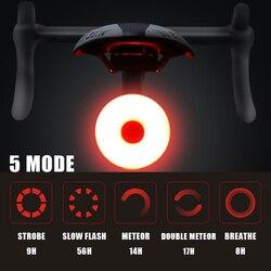Mini LED Sepeda Ekor Lampu USB Dibebankan Sepeda Lampu Belakang IPX5 Tahan Air Keselamatan Peringatan Bersepeda Lampu Helm Ransel Lampu