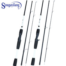 Sougayilang 1.75m Fishing Rod 3 Section Fiber Casting Spinning Fishing Rod M Power Fast Action Lure Wt:7-28g Hand Fishing Tackle(China)