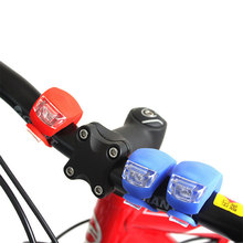 Front Light Silicone LED Head Front Rear Wheel Bike Light Waterproof Cycling With Battery Bicycle Accessories Bike Lamp TSLM1(China)