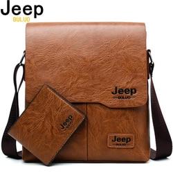 Homens tote bags definir jeep buluo famosa marca nova moda homem de couro saco do mensageiro masculino cruz corpo ombro sacos de negócios para homens