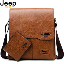Men Tote Bags Set JEEP BULUO Famous Brand New Fashion Man Leather Mess