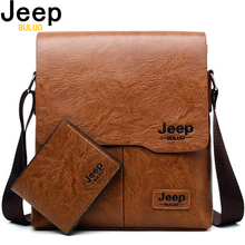 Men Tote Bags Set JEEP BULUO Famous Brand New Fashion Man Leather