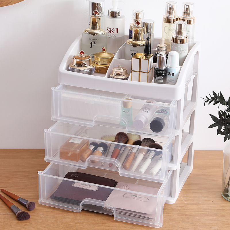 Makeup-Organizer Storage-Box Jewelry-Box Drawer Plastic Clear Large  title=