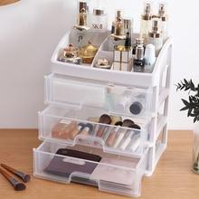 화장품 대용량 메이크업 Organizer Clear Cosmetic Storage Box Organizer 데스크탑 쥬얼리 매니큐어 메이크업 컨테이너